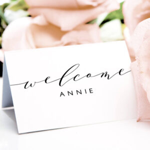 Place Cards Printable Template, Flat And Folded Welcome with regard to Place Card Setting Template
