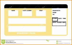 Plane Ticket Template Pdf Awesome Boarding Pass Free with Plane Ticket Template Word
