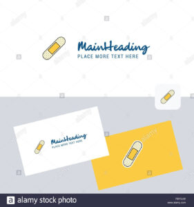 Plaster Vector Logotype With Business Card Template. Elegant with regard to Plastering Business Cards Templates