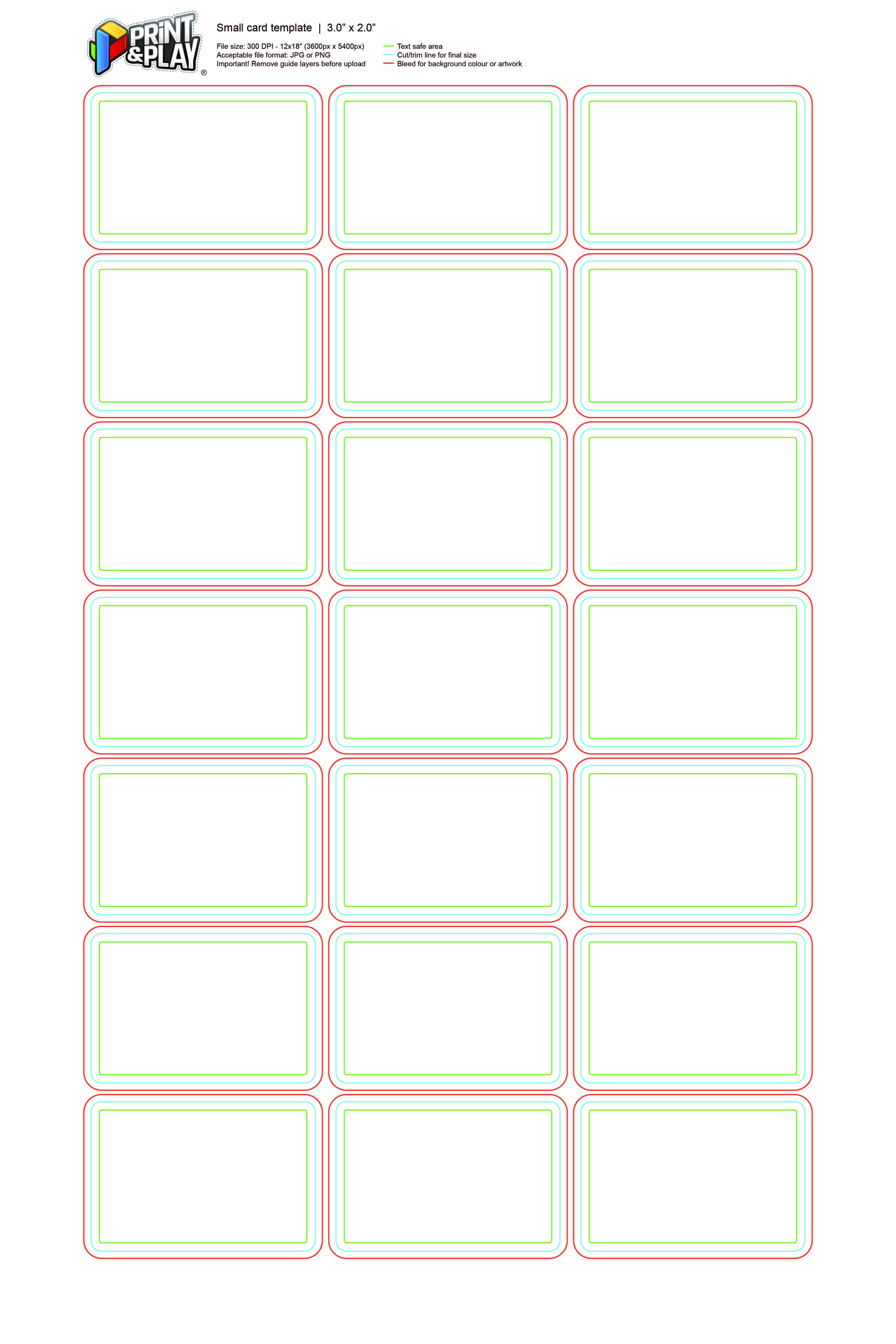 Playing Cards : Formatting & Templates – Print & Play Regarding Baseball Card Size Template