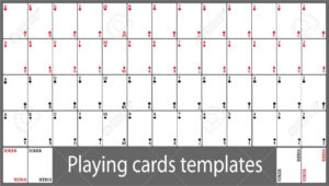 Playing Cards Template Set inside Deck Of Cards Template