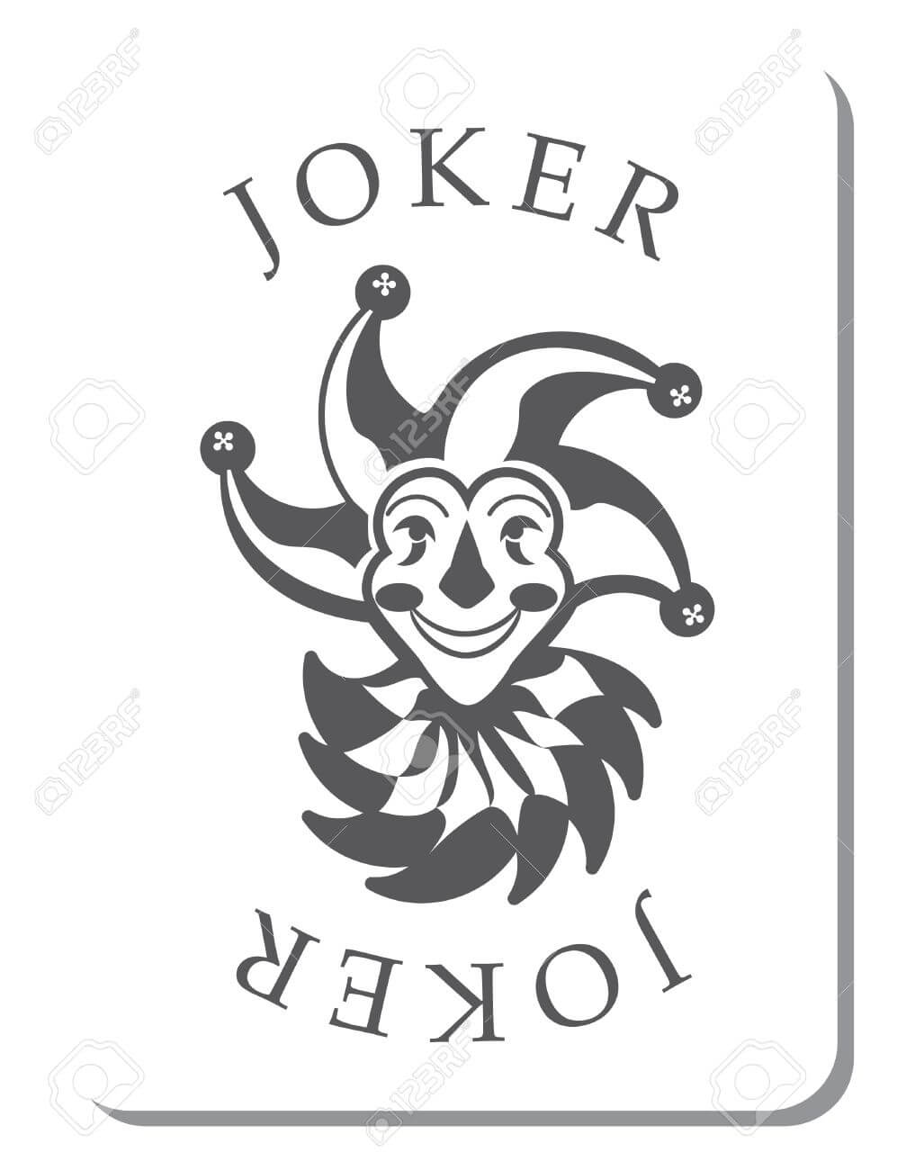 Playing Cards With The Joker From A Deck Of Playing Cards In Joker Card Template