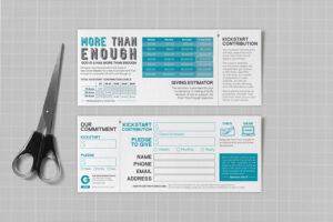 Pledge Cards & Commitment Cards | Church Campaign Design in Church Pledge Card Template