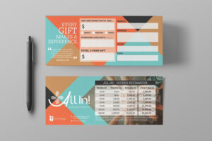 Pledge Cards & Commitment Cards | Church Campaign Design throughout Pledge Card Template For Church