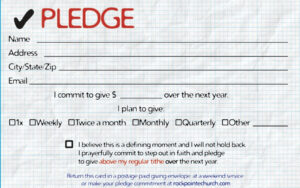 Pledge Cards For Churches | Pledge Card Templates | My Stuff for Donation Cards Template
