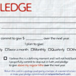 Pledge Cards For Churches | Pledge Card Templates | My Stuff within Church Pledge Card Template