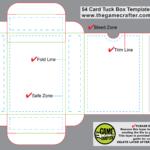 Poker Tuck Box (54 Cards) Pertaining To Card Box Template Generator