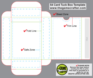 Poker Tuck Box (54 Cards) pertaining to Card Box Template Generator
