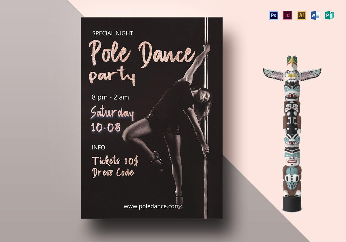 Pole Dance Party Flyer Template With Regard To Dance Flyer Template Word