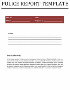 Police Report Templates – 8+ Free Blank Samples – Template within Crime Scene Report Template