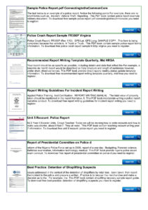 Police Shoplifting Report Writing Template Sample Pages 1 pertaining to Incident Report Book Template