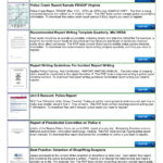Police Shoplifting Report Writing Template Sample Pages 1 Pertaining To Report Writing Template Free