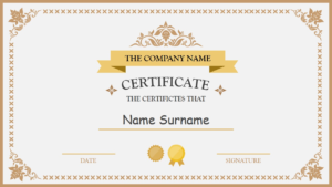 Polished Design Certificate For Powerpoint | Powerpoint in Award Certificate Design Template