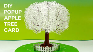 Pop Up Apple Tree Card Tutorial (3D Sliceform On The Cricut) With Pop Up Tree Card Template