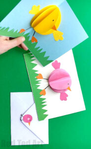 Pop Up Chick Card For Easter – Red Ted Art pertaining to Easter Chick Card Template