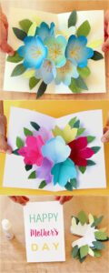 Pop Up Flowers Diy Printable Mother's Day Card – A Piece Of with Diy Pop Up Cards Templates