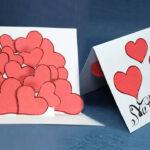 Pop Up Valentine Card – Hearts Pop Up Card Stepstep Inside Pop Out Heart Card Template