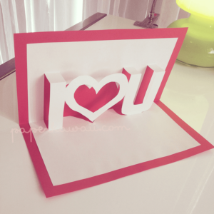 Pop Up Valentines Card Template I ♥ U | Crafts And Fun for Free Pop Up Card Templates Download