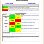 Portfolio Management Reporting Templates Or Sample Project With Regard To Project Portfolio Status Report Template