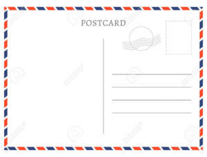 Post Card Template (1) | Payroll Check Stubs in Post Cards Template