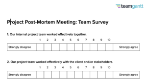 Post-Mortem Meeting Template And Tips | Teamgantt inside Post Project Report Template