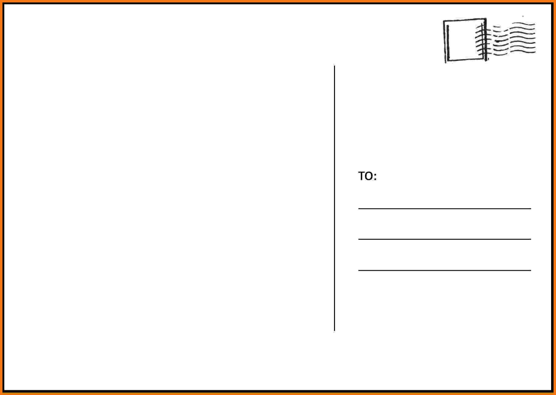 Postcard Template Word With Regard To Free Postcard Within Free Blank Postcard Template For Word