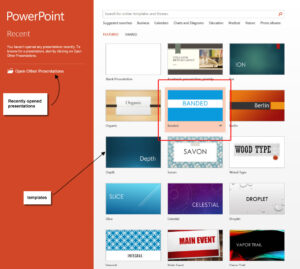 Powerpoint 2013 Templates – Microsoft Powerpoint 2013 Tutorials intended for What Is Template In Powerpoint