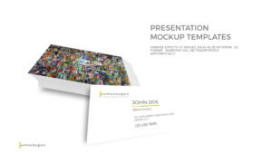 Powerpoint Business Card Mockup Template with Business Card Template Powerpoint Free