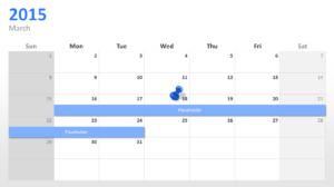 Powerpoint Calendar: The Perfect Start For 2015 pertaining to Powerpoint Calendar Template 2015