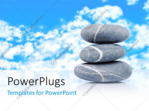 Powerpoint Template: A Number Of Zen Stones With Clouds In for Presentation Zen Powerpoint Templates