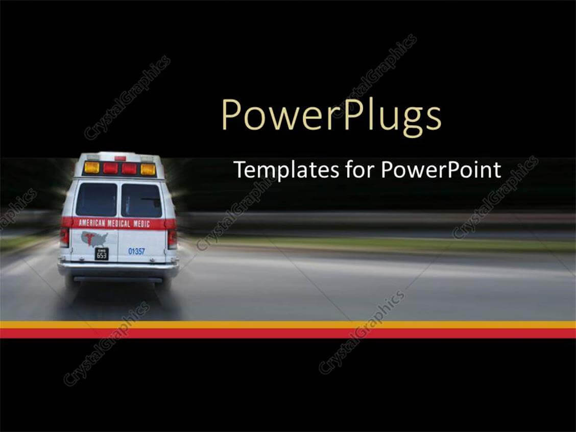 Powerpoint Template: Ambulance Going To Hospital For within Ambulance Powerpoint Template