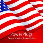 Powerpoint Template: American Flag Patriotic Background With Intended For American Flag Powerpoint Template