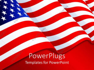 Powerpoint Template: American Flag Patriotic Background With Intended For American Flag Powerpoint Template