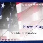 Powerpoint Template: American Flag Patriotic On Faded Inside American Flag Powerpoint Template