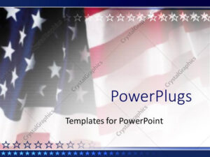 Powerpoint Template: American Flag Patriotic On Faded inside American Flag Powerpoint Template