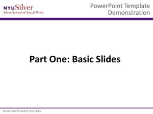 Powerpoint Template Demonstration Dr. John Smith Nyu Silver inside Nyu Powerpoint Template