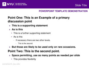 Powerpoint Template Demonstration – Ppt Download with Nyu Powerpoint Template
