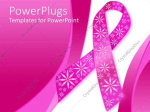 Powerpoint Template: Pink Breast Cancer Ribbon With Sparkly for Breast Cancer Powerpoint Template