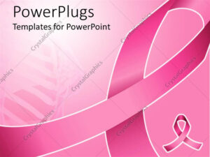 Powerpoint Template: Pink Ribbon For Fighting Breast Cancer within Breast Cancer Powerpoint Template