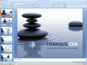 Powerpoint: Tranquil Zen Presentation Template inside Presentation Zen Powerpoint Templates