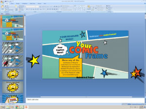 Powerpoint: Your Comic Frame Presentation Template intended for Comic Powerpoint Template