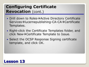 Ppt – Configuring Active Directory Certificate Services in Active Directory Certificate Templates