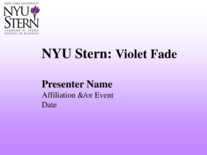 Ppt – Nyu Stern: Violet Fade Powerpoint Presentation – Id:659577 pertaining to Nyu Powerpoint Template