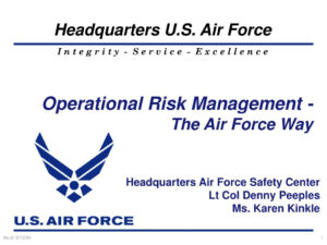 Ppt – Operational Risk Management – The Air Force Way for Air Force Powerpoint Template