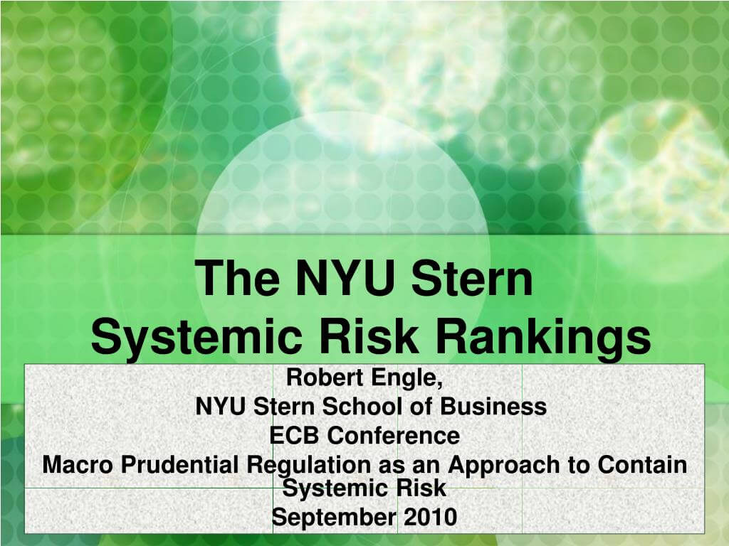 Ppt - The Nyu Stern Systemic Risk Rankings Powerpoint In Nyu Powerpoint Template