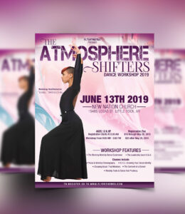 Praise Dance Workshop Flyer Template #flyerthemes | Church within Dance Flyer Template Word