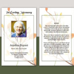 Prayer Card Template | Funeral Prayer Card, Editable Ms Word & Photoshop  Template | Instant Download | V08 In Prayer Card Template For Word