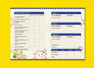 Pre-Nursery Report Card On Behance | Report Card Ideas for Boyfriend Report Card Template
