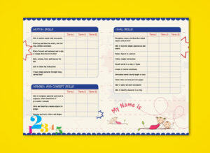Pre-Nursery Report Card On Behance | Report Card Ideas in Character Report Card Template