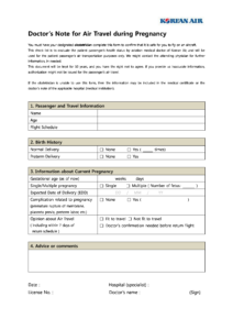Pregnancy Travel Form Eliminate Your Fears And Doubts – Grad with Fit To Fly Certificate Template
